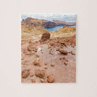 Moonscape lunar landscape with rocks on island jigsaw puzzle