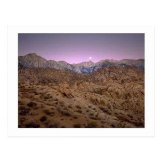 """Moonset On Mt. Whitney"" Postcard"