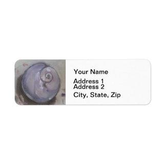 Moonshell beach sea shell beach snail return address label
