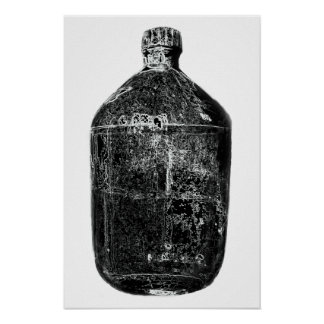 Moonshine Bottle Print