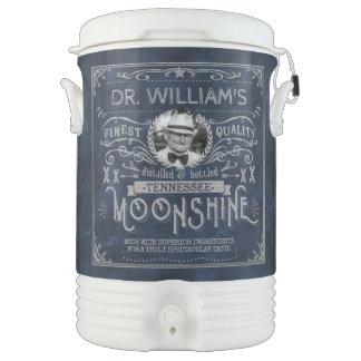 Moonshine Hillbilly Medicine Vintage Custom Blue Drinks Cooler
