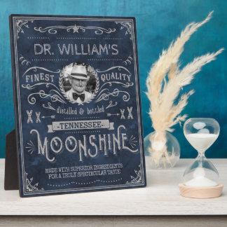 Moonshine Hillbilly Medicine Vintage Custom Blue Plaque