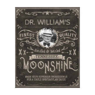 Moonshine Hillbilly Medicine Vintage Custom Brown Canvas Print