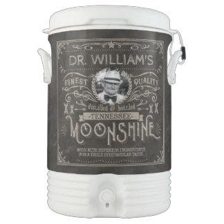 Moonshine Hillbilly Medicine Vintage Custom Brown Drinks Cooler
