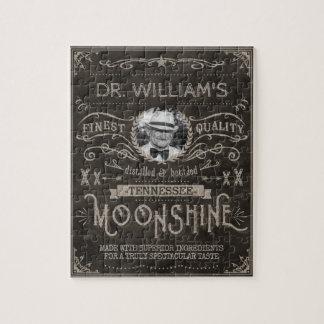 Moonshine Hillbilly Medicine Vintage Custom Brown Jigsaw Puzzle