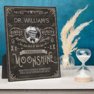 Moonshine Hillbilly Medicine Vintage Custom Brown Plaque