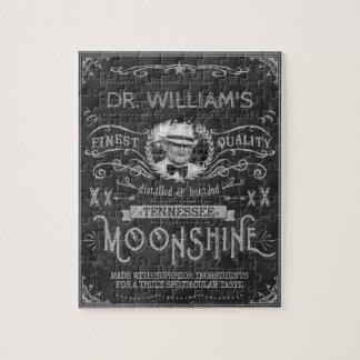 Moonshine Hillbilly Medicine Vintage Custom Gray Jigsaw Puzzle
