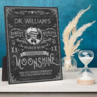 Moonshine Hillbilly Medicine Vintage Custom Gray Plaque