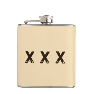 Moonshine Style Monogram Flasks