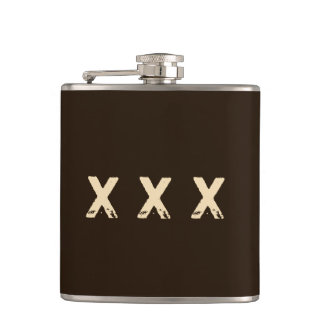 Moonshine Style Monogram Hip Flask