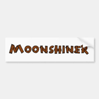 Moonshiner Bumper Sticker Rustic Look
