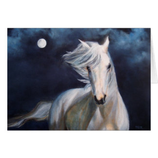 """Moonsilver"" Horse Greeting Card"