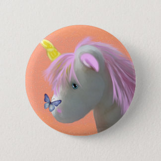 Moonstone the unicorn 2 inch round button