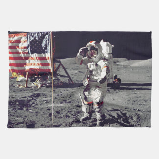 Moonwalk Apollo 17 Kitchen Towel