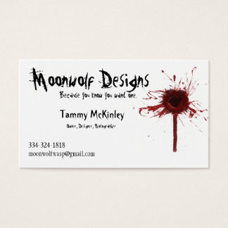 Moonwolf Designs business card