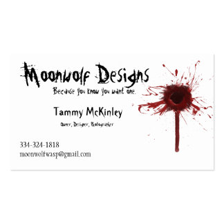 Moonwolf Designs business card