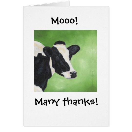 Mooo! Cow Thank You Notecard