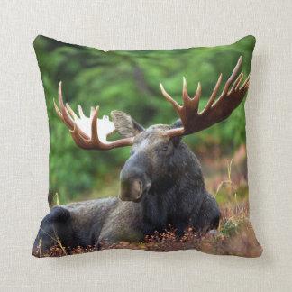 Moooose! Throw Pillow
