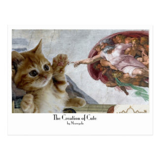 "Moooosterpiece series: ""The Creation of Cute"" Postcard"