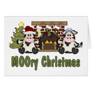 MOOORY Chirstmas Cow Christmas Tees, Gifts Card