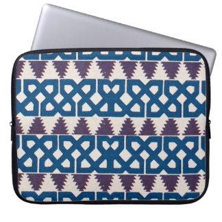 Moor African Arabic Pattern Design Blue Purple Laptop Computer Sleeves