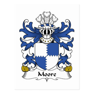 Moore Family Crest Postcards