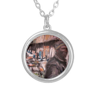 moore street dublin shopper silver plated necklace