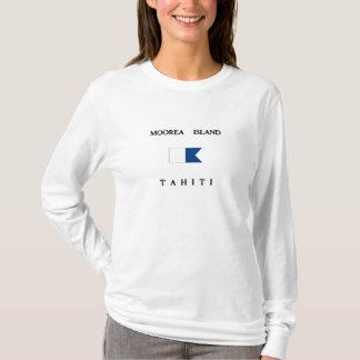 Moorea Island Tahiti Alpha Dive Flag T-Shirt