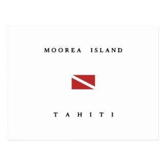 Moorea Island Tahiti Scuba Dive Flag Postcard