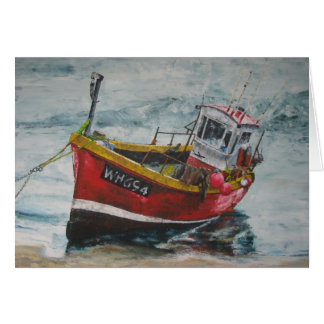 Moored Fishing Boat Card
