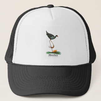 Moorhen bird, tony fernandes trucker hat