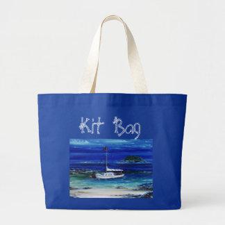 `Mooring up' Boating Jumbo Tote Jumbo Tote Bag