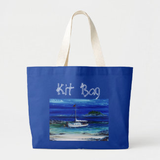 `Mooring up' Boating Jumbo Tote Jumbo Tote Bag