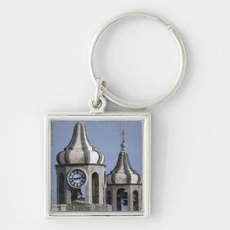 Moorish architectue of La Orotava, Tenerife Silver-Colored Square Keychain