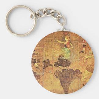"""Moorish Dance (Â """"Les Alme""""),  By Toulouse-Lautrec Keychain"""