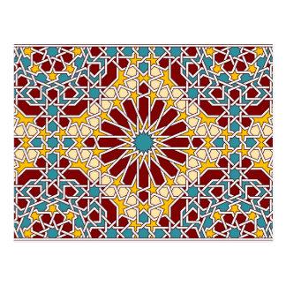 Moorish Pattern 2014 Calendar Postcard