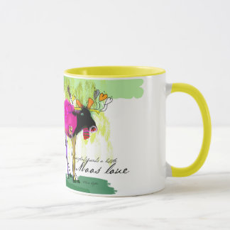 Moos Love Yellow 11 oz Combo Mug