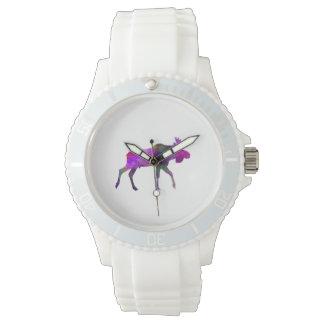 Moose 01 in watercolor watch