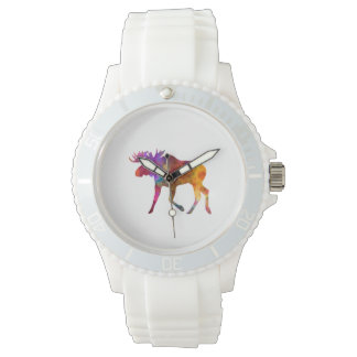 Moose 02 in watercolor wristwatches