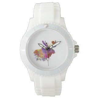 Moose 04 in watercolor watch