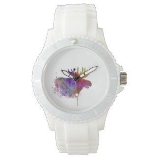 Moose 06 in watercolor watch