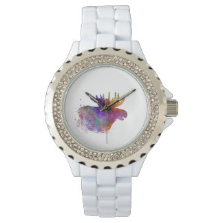 Moose 06 in watercolor wrist watches