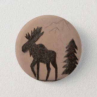 Moose 2 Inch Round Button