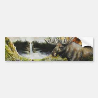 Moose~ A Painting on customizable products Bumper Sticker