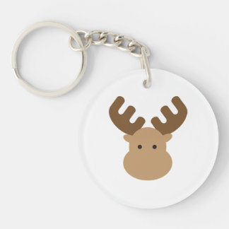 Moose Acrylic Keychain