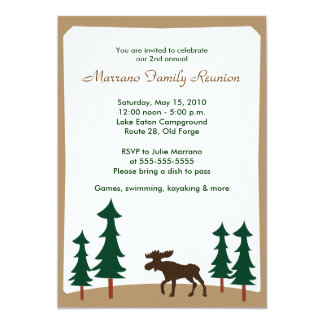 MOOSE Adirondack Lodge 5x7 Party Invitation