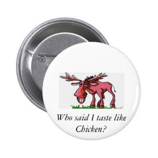 Moose Alaska 2 Inch Round Button