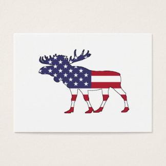 "Moose ""American Flag"" Business Card"