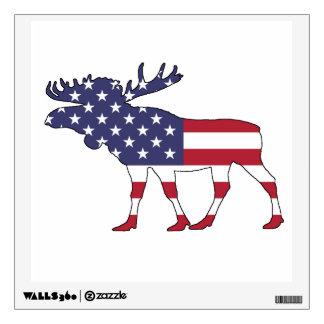 "Moose ""American Flag"" Wall Decal"