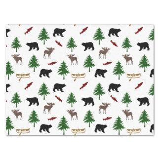Moose and Bear Pattern Tissue Paper